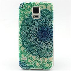 olcso Galaxy S4 Mini tokok-Case Kompatibilitás Samsung Galaxy Samsung Galaxy tok Minta Fekete tok Mandala TPU mert S6 edge S6 S5 Mini S5 S4 Mini S4 S3 Mini S3