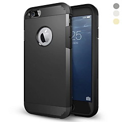 Недорогие Кейсы для iPhone 6-Кейс для Назначение Apple iPhone 6 iPhone 6 Plus Защита от удара Кейс на заднюю панель броня Твердый ПК для iPhone 6s Plus iPhone 6s