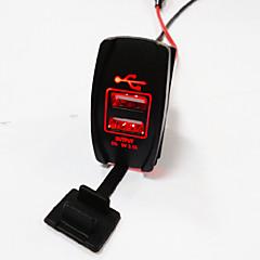 Недорогие Автоэлектроника-lossmann двойной USB разъем стандартный АРБ Carling переключается вырезы автомобиль лодке зарядное 5v 3.1A.