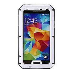 abordables Accesorios de Samsung-Funda Para Samsung Galaxy Impermeable / Antigolpes / Antipolvo Funda de Cuerpo Entero Armadura Metal para S5