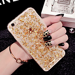 billige Etuier til iPhone 6-For iPhone 6 etui iPhone 6 Plus etui Transparent Etui Bagcover Etui Glitterskin Blødt TPU foriPhone 7 Plus iPhone 7 iPhone 6s Plus/6 Plus