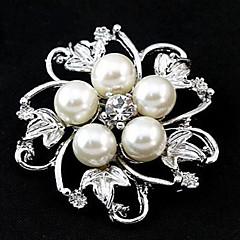 Χαμηλού Κόστους Καρφίτσες-Γυναικεία Απομίμηση Μαργαριταριού Μαργαριτάρι Κρύσταλλο Απομίμηση Μαργαριταριού Γκρι πέρλα Ροζ πέρλα Κράμα Λευκό Γκρίζο Τριανταφυλλί