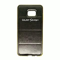 tanie Galaxy S6 Etui / Pokrowce-Kılıf Na Samsung Galaxy Samsung Galaxy Etui Wzór Czarne etui Przejście kolorów Skóra PU na S6 edge plus S6 edge S6 S5 S4