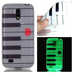 Mert Samsung Galaxy tok Foszforeszkáló Case Hátlap Case Vonalak / hullámok TPU Samsung S6 edge plus / S6 / S5 / S4 Mini / S3