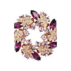kristal taklidi altın bling çince redbud çiçek broş pimleri takı kadın kaplamalı bling eşarp için broşlar