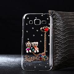 billige Galaxy A7 Etuier-For Samsung Galaxy etui Etuier Rhinsten Transparent Bagcover Etui Tegneserie Hårdt PC for SamsungA5 (2017) A3 (2017) A7 (2017) A7(2016)