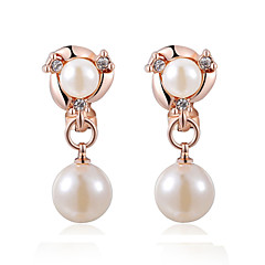 cheap Women's Jewelry-Women's Pearl Clip Earrings - Pearl, Imitation Pearl, Cubic Zirconia Silver / Rose Gold For
