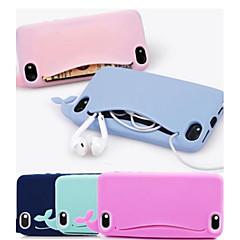 Недорогие Кейсы для iPhone 4s / 4-симпатичный силикон милый кит мягкий чехол для iphone 4 / 4s