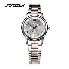 お買い得  大特価腕時計-SINOBI 女性用 リストウォッチ クォーツ 30 m 耐水 カレンダー 合金 バンド ハンズ ファッション エレガント シルバー - シルバー 2年 電池寿命 / Sony SR626SW