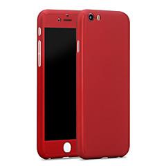 Недорогие Кейсы для iPhone 6 Plus-Кейс для Назначение Apple iPhone 6 iPhone 6 Plus Защита от влаги Кейс на заднюю панель Сплошной цвет Твердый ПК для iPhone 6s Plus iPhone