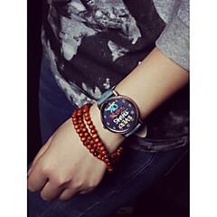 preiswerte Armbanduhren für Paare-Damen Modeuhr Quartz Armbanduhren für den Alltag Plastic Band Analog Schwarz / Weiß / Blau - Rot Grün Blau