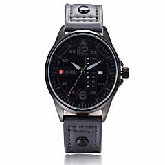 preiswerte Tolle Angebote auf Uhren-CURREN Herrn Armbanduhr Kalender / Chronograph / Wasserdicht Leder Band Charme Schwarz / Blau / Rot / Edelstahl / Sony S626 / Zwei jahr