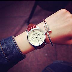 preiswerte Armbanduhren für Paare-Herrn Damen Paar Armbanduhr Quartz Kalender PU Band Analog Charme Modisch Schwarz / Weiß - Schwarz Braun