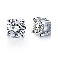 preiswerte Ohrringe-Damen Kristall Ohrstecker - Sterling Silber, Krystall, Silber Simple Style, Brautkleidung Rot / Grün / Blau Für Hochzeit Party Alltag