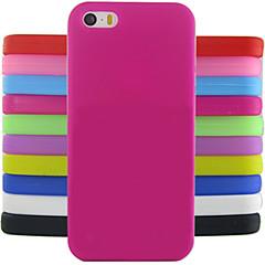 Недорогие Кейсы для iPhone 5-Кейс для Назначение iPhone 5 Apple Кейс для iPhone 5 Защита от удара Кейс на заднюю панель Однотонный Мягкий Силикон для iPhone SE / 5s