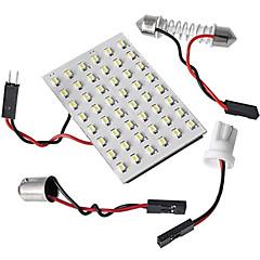 preiswerte LED Autobirnen-5 in 1 3528 SMD-LED-Panel 48 weiße LED-Licht + t10 / BA9s Modul + Doppelspitze (DC 12V)