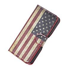 Voor Wiko hoesje Kaarthouder / met standaard / Flip / Patroon hoesje Volledige behuizing hoesje Vlag Hard PU-leer Wiko