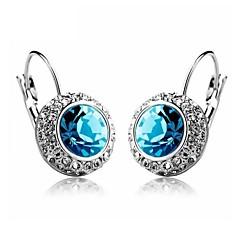 Σκουλαρίκι Κουμπωτά Σκουλαρίκια / Κρίκοι Κοσμήματα 1set Γάμου / Πάρτι / Καθημερινά / Causal Κρύσταλλο Γυναικεία Ασημί