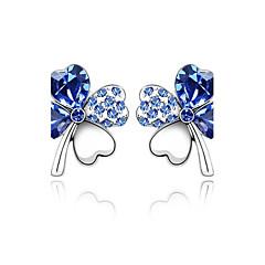 preiswerte Ohrringe-Damen Kristall Ohrstecker - Krystall nette Art Grün / Blau / Rosa Für Hochzeit / Party / Alltag