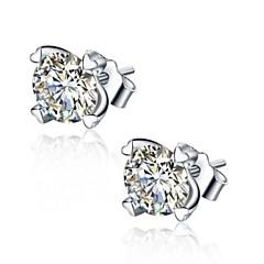 preiswerte Ohrringe-Damen Kubikzirkonia Ohrstecker - Sterling Silber, Kubikzirkonia, Silber Herz Einlage Silber Für Hochzeit Party Alltag
