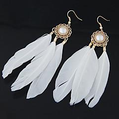 preiswerte Ohrringe-Damen Tropfen-Ohrringe - Feder Personalisiert, Europäisch, Modisch Für Party / Alltag / Normal