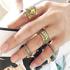 Pierścionki Codzienny / Casual Biżuteria Stop Damskie / Męskie / Para Pierścionki na palec środkowy 1set,Jeden rozmiar Złoty / Srebrne