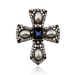 Γυναικεία Κρυστάλλινο Μαργαριτάρι Απομίμηση Μαργαριταριού Στρας Κράμα Πεπαλαιωμένο Victorian Δήλωση Κοσμήματα Cross Shape ΚοσμήματαΠάρτι