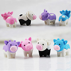 Cute Cartoon Milk Cow Detachable Eraser Student School DIY Rubber for Kid (Random Color)