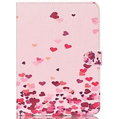 Недорогие Чехлы и кейсы для Galaxy Tab 3 Lite-Кейс для Назначение Samsung Бумажник для карт Кошелек со стендом С узором Авто Режим сна / Пробуждение Чехол С сердцем Твердый Кожа PU для