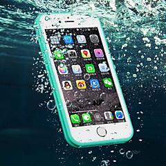 Недорогие Кейсы для iPhone 6-Кейс для Назначение Apple iPhone 6 Plus / iPhone 6 Защита от влаги Кейс на заднюю панель Однотонный Мягкий ТПУ для iPhone 6s Plus / iPhone 6s / iPhone 6 Plus