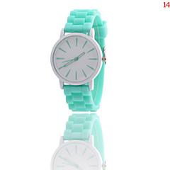 お買い得  大特価腕時計-女性用 リストウォッチ クォーツ ホット販売 ラバー バンド ハンズ チャーム ファッション ブラック / 白 / ブルー - ブルー ライトブルー ライトグリーン