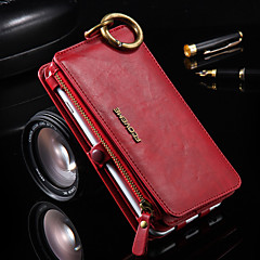 Para iPhone 8 iPhone 8 Plus iPhone 6 iPhone 6 Plus Carcasa Funda Soporte de Coche Cartera con Soporte Cuerpo Entero Funda Color sólido