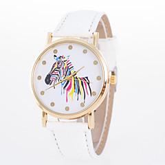 お買い得  大特価腕時計-女性用 クォーツ リストウォッチ カジュアルウォッチ PU バンド Elegant ファッション ブラック 白 ブルー レッド ブラウン グリーン ピンク ローズ