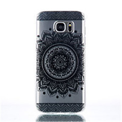 olcso Galaxy S4 Mini tokok-Case Kompatibilitás Samsung Galaxy Samsung Galaxy S7 Edge Átlátszó Minta Fekete tok Elefánt TPU mert S7 edge S7 S6 edge plus S6 edge S6