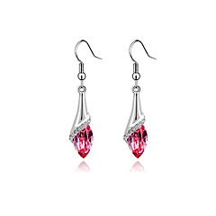preiswerte Ohrringe-Damen Kristall Tropfen-Ohrringe - Schmetterling, Tier Rose / Grün / Blau Für Party Alltag Normal