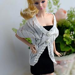 abordables Ropa para Barbies-Casual / Diario Vestidos / Cárdigans y Suéteres 2 pcs por Muñeca Barbie  Tejido de lana Top / Vestido por Chica de muñeca de juguete