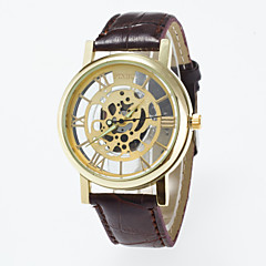 2016 New Arrival Fashionable Imitation Mechanical Wristwatch Unisex Watches Skeleton dial Leisure Wristwatch Cool Watches Unique Watches