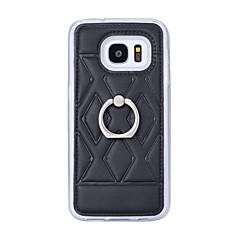 olcso Galaxy S6 Edge tokok-Case Kompatibilitás Samsung Galaxy Samsung Galaxy S7 Edge Tartó gyűrű Hátlap Mértani formák Műbőr Bőr mert S7 edge plus S7 edge S7 S6