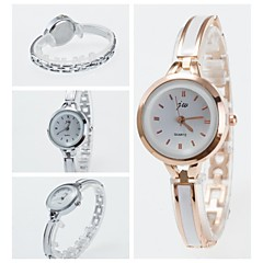 voordelige Dameshorloges-Dames Modieus horloge Armbandhorloge Kwarts Keramiek Band Zwart Wit Zilver Goud Rose