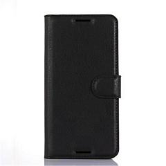 Недорогие Чехлы и кейсы для HTC-Кейс для Назначение HTC Кейс для HTC Бумажник для карт Кошелек со стендом Флип Чехол Сплошной цвет Твердый Кожа PU для