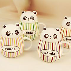 2 adet 400ml güzel gut göbekli panda seramik sır renk çubuğu kupa bardak su bardağı (rastgele renk)