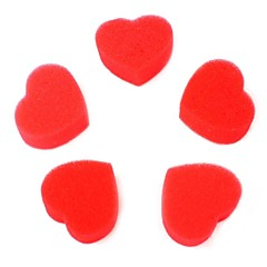 dragoste popi magie burete de inima 5buc roșii