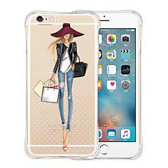 Недорогие Кейсы для iPhone-Кейс для Назначение iPhone 5 Apple Кейс для iPhone 5 Защита от удара Прозрачный С узором Кейс на заднюю панель Соблазнительная девушка