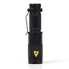 SK68 LED Flashlights / Torch LED 2000 lm 1 Mode Cree XR-E Q5 Adjustable Focus Impact Resistant Waterproof Strike Bezel Clip Emergency