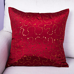 Poliester Pokrywa Pillow,Upiększać i haftowane Przypadkowy / Retro / Akcent / Decorative