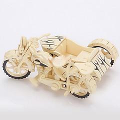 Puzzle 3D Puzzle Puzzle Lemn Jucării pentru mașini Motocicletă Jucarii Motocicletă 3D Simulare Bucăți