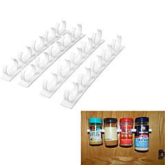 abordables Almacenamiento para la Cocina-20 clip set cocina botella especia organizador tienda bastidor gabinete puerta especia