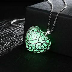 preiswerte Halsketten-Damen Hohl Anhängerketten - Herz, Liebe Modisch Grün, Blau, Hellblau Modische Halsketten Für Hochzeit, Party, Alltag