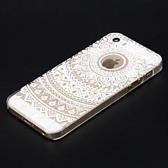 Недорогие Кейсы для iPhone X-Кейс для Назначение iPhone 5 Apple iPhone X iPhone X iPhone 8 Кейс для iPhone 5 Прозрачный С узором Кейс на заднюю панель Мандала Твердый