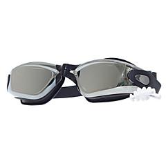 abordables Gafas de Natación-Gafas de natación Anti vaho Tamaño Ajustable Gel de sílice PC Gris Rojo Negro